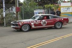 1969年Ford Mustang上司302赛车 库存照片