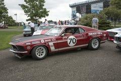 1969年Ford Mustang上司302赛车 库存图片