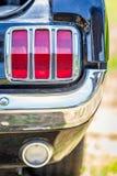 1965年Ford Mustang尾灯 免版税图库摄影