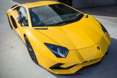 2018年Lamborghini Aventador S 库存照片
