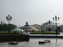 并且在莫斯科有雨 免版税库存图片