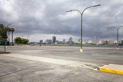 并且垂直平面在洛杉矶 免版税库存照片