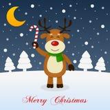 并且如此这是圣诞节-微笑的驯鹿 库存图片