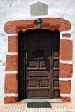 并且白色墙壁兰萨罗特岛摘要西班牙canarias 库存照片