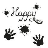 幸福字法 免版税图库摄影