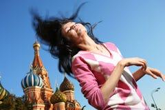 幸福感愉快的妇女 免版税图库摄影