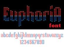 幸福感-音乐字母表 库存图片