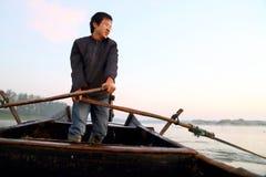 幸福渔夫 免版税库存图片