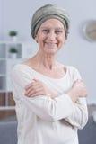 幸福甚而在癌症 免版税库存图片