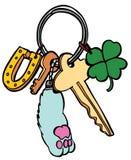 幸运的keychain 库存图片