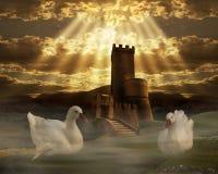幻想城堡 免版税库存图片