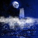幻想夜空 向量例证
