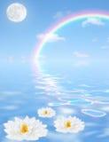 幻想天堂般的彩虹 库存图片