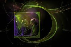 幻想摘要作用元素意想不到的纹理爆炸闪闪发光想象力分数维,发光的数字未来派 皇族释放例证