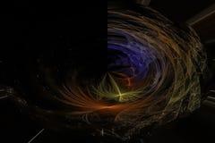 幻想摘要作用超现实的元素意想不到的纹理爆炸闪闪发光想象力分数维,发光的数字未来派 库存例证