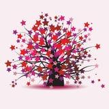 幻想满天星斗的结构树 皇族释放例证