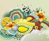 幻想花卉例证 免版税库存照片