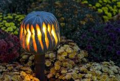 幻灯装饰一个秋天假日万圣夜,与拷贝空间的明亮的纹理在花卉背景 库存图片