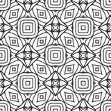 幻觉在被排行的黑N白色的样式背景 向量例证
