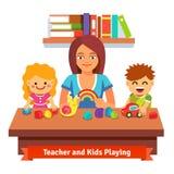 幼儿园学会和教育 免版税库存图片