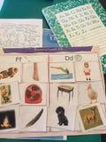 幼儿园家庭作业2015年 免版税库存照片