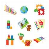 幼儿园教育传染媒介玩具 免版税库存照片