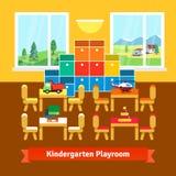 幼儿园游戏室教室 免版税库存照片