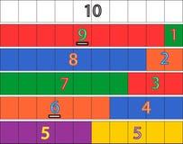 幼儿园算术比赛 免版税库存图片