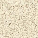 幼儿园线艺术设计传染媒介例证 免版税库存图片