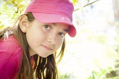 幼儿外面女孩画象 免版税图库摄影