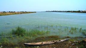幼发拉底河和底格里斯河合流 免版税库存照片