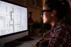 幼小女性程序员 免版税库存照片