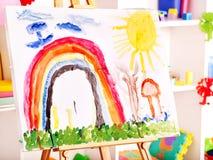 幼稚园的教室。 免版税库存图片