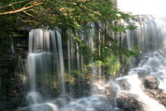 幽谷公园ricketts指明瀑布 免版税库存照片