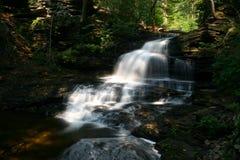 幽谷公园ricketts状态瀑布 库存图片
