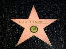 幽谷在好莱坞星光大道的坎伯星 免版税图库摄影