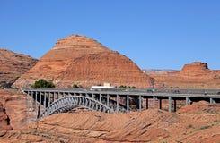 幽谷在页,亚利桑那的峡谷水坝 图库摄影