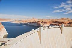 幽谷峡谷水坝 库存图片