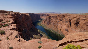 幽谷峡谷的(亚利桑那,美国)科罗拉多河 免版税库存照片