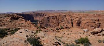 幽谷峡谷,喀麦隆panorma (亚利桑那,美国) 库存照片