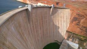 幽谷峡谷水坝 库存照片