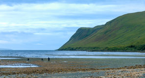 幽谷易碎的海湾,斯凯岛小岛  免版税库存照片