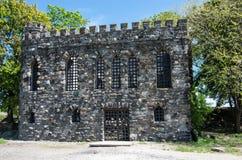 幽谷海岛城堡 库存照片