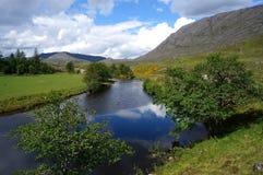 幽谷的Strathfarrar河Farrar 免版税图库摄影