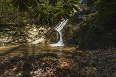 幽谷Burney足迹,吹的岩石, NC 免版税库存图片