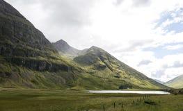 幽谷Coe谷,苏格兰 免版税库存照片