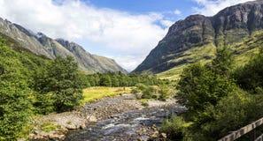 幽谷Coe谷,苏格兰 免版税图库摄影