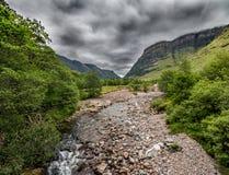幽谷Coe -高地-苏格兰 库存照片
