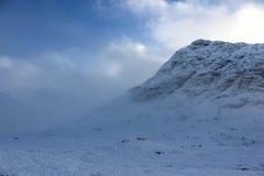 幽谷Etive,苏格兰高地 免版税图库摄影