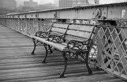 幽静的长凳 库存图片